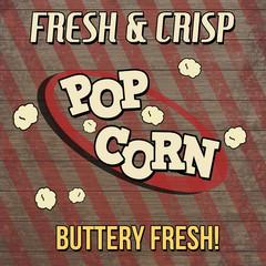 Pop corn vintage poster design