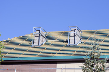 house  repair roof and chimney  new construction