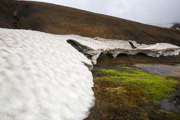 Panorama of Icelandic mountains