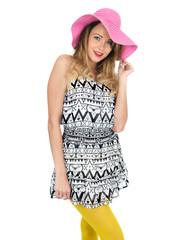Sexy Young Woman Wearing Short Mini Dress