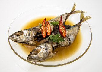 Spicy Mackerel in Sweet Black Sauce (Pla tu tom khem)