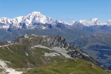 massif montagneux mont-blanc
