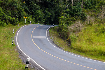 Road at Khao Yai National Park, Thailand