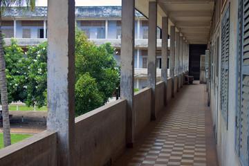 Corridor in Tuol Sleng  (S21) Prison, Phnom Penh, Cambodia
