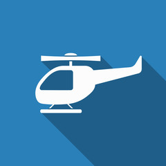 helicopter icon with long shadow