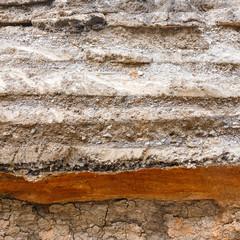 Soil layers under asphalt road