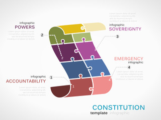 Vector constitution infographics