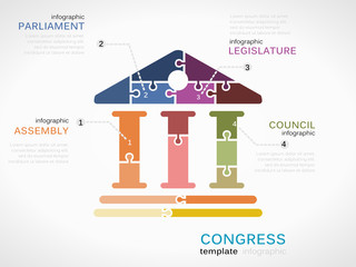 Vector congress infographics