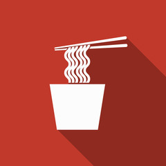 noodles icon with long shadow