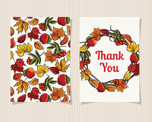 Decorative card Thank You