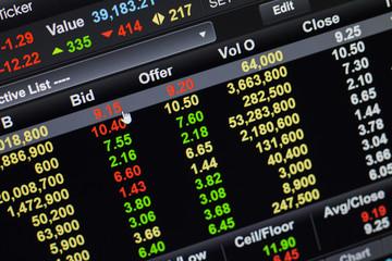 Bid click stock market