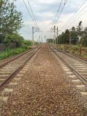 Railway lines, Peris,Ilfov,Romania