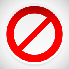 Prohibition, deny sign vector