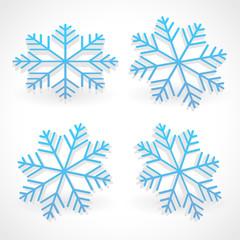 3d snowflakes.