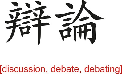 Chinese Sign for discussion, debate, debating