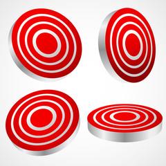 Target graphics. Hit, bullseye.