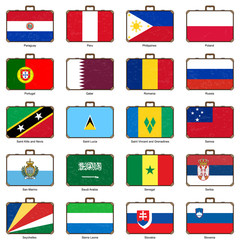 suitcase with flag