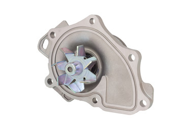 water pump engine cooling fan on a white background