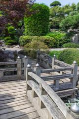 Japanese Garden wooden walkway