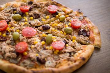 Tuna Pizza Slice