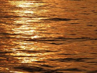 Shadow golden sunset sea