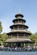 canvas print picture - Chinesischer Turm im englischen Garten