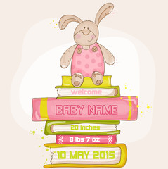 Baby Bunny Shower or Arrival Card - with place for your text