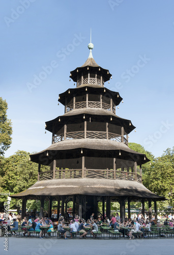 canvas print picture Chinesischer Turm im englischen Garten