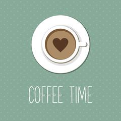 Vintage card, coffee shop menu, coffee cup