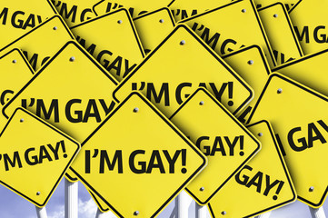 I'm Gay! written on multiple road sign