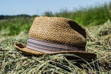 hat, hay, farm, countryside, nature, moda