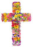 Flowers of a cross of Jesus - 68607348