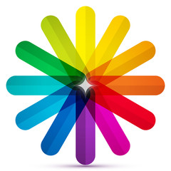 Colored rounded crayons icon