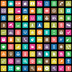 100 bank icons.