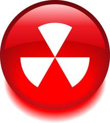 Круглый векторный значок с изображением радиации