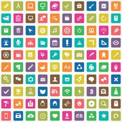 100 art, design icons.