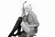 Frau mit Saxophone