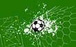 goal, grungy soccer o. football illustration, vector format