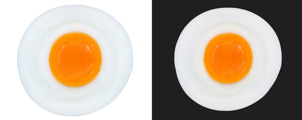 fried eggs isolated
