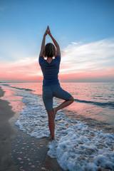 Balance at sunrise