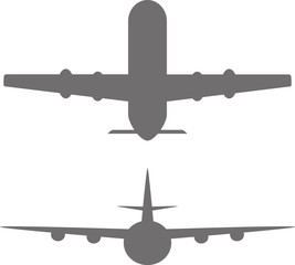 airplane icons. The plane takes off and the plane lands