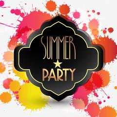 Vector splattered summer party background illustration