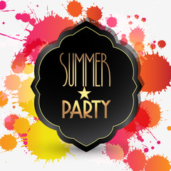 Vector splattered summer party background illustration