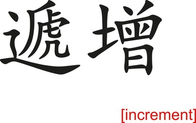 Chinese Sign for increment