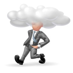 testa nelle nuvole