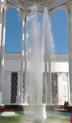 high fountain at the exhibition