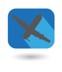 airplane flate icon. The plane takes of