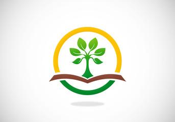 tree ecology abstract vector logo