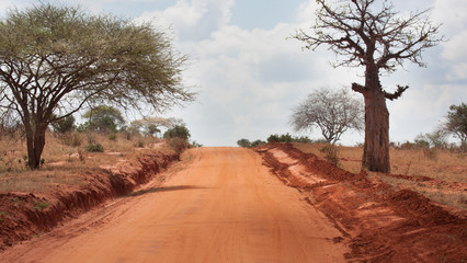 Strada sterrata in Kenya