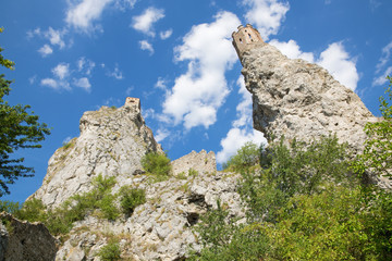 The ruins of Devin castle near Bratislava